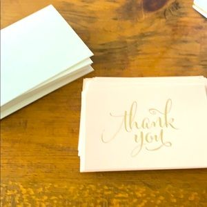 Clearance: 14 blank thank you cards